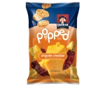 Popped rice chips